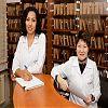 Сотрудники регистратуры: Кусаинова Гульназ - медицинская сестра,  Джангозина Майя Сулейменовна - координатор
